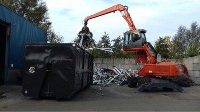 Atlas 1604MST overslagmachine voor Heemsbergen Recycling.